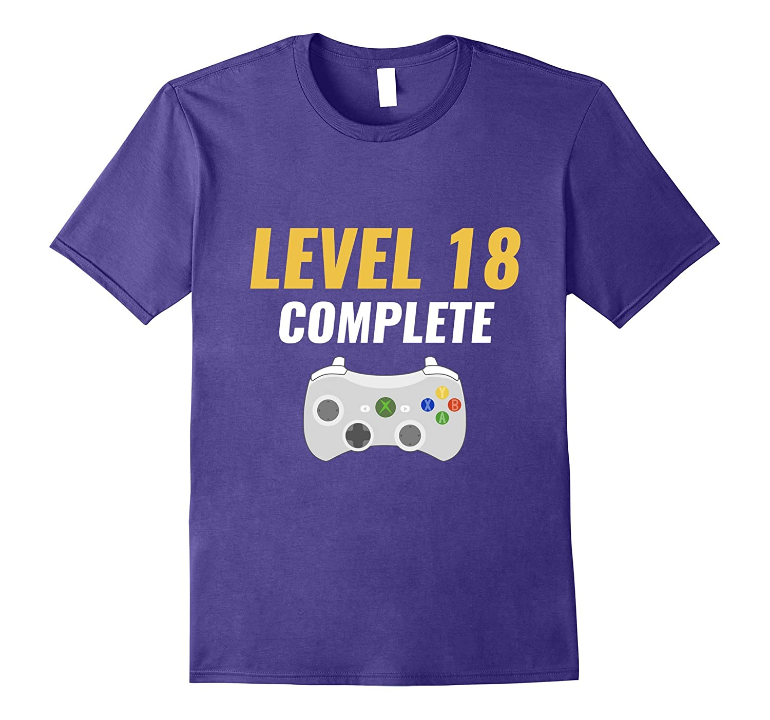 Level 18 Complete Funny 18th Birthday Gamer Shirt Gifts