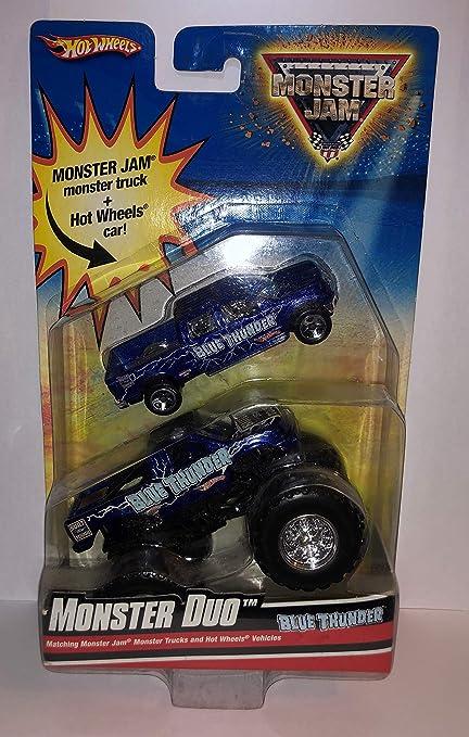 Amazon.com: Hot Wheels Monster JAM Blue Thunder Monster Duo ...