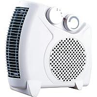 TENCO TH311  - Calefactor eléctrico 2000W, Posición Horizontal o Vertical, Termostato Regulable, Color Blanco
