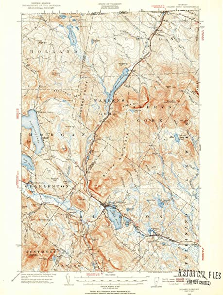 Amazon.com : YellowMaps Island Pond VT topo map, 1:62500 Scale, 15 X ...