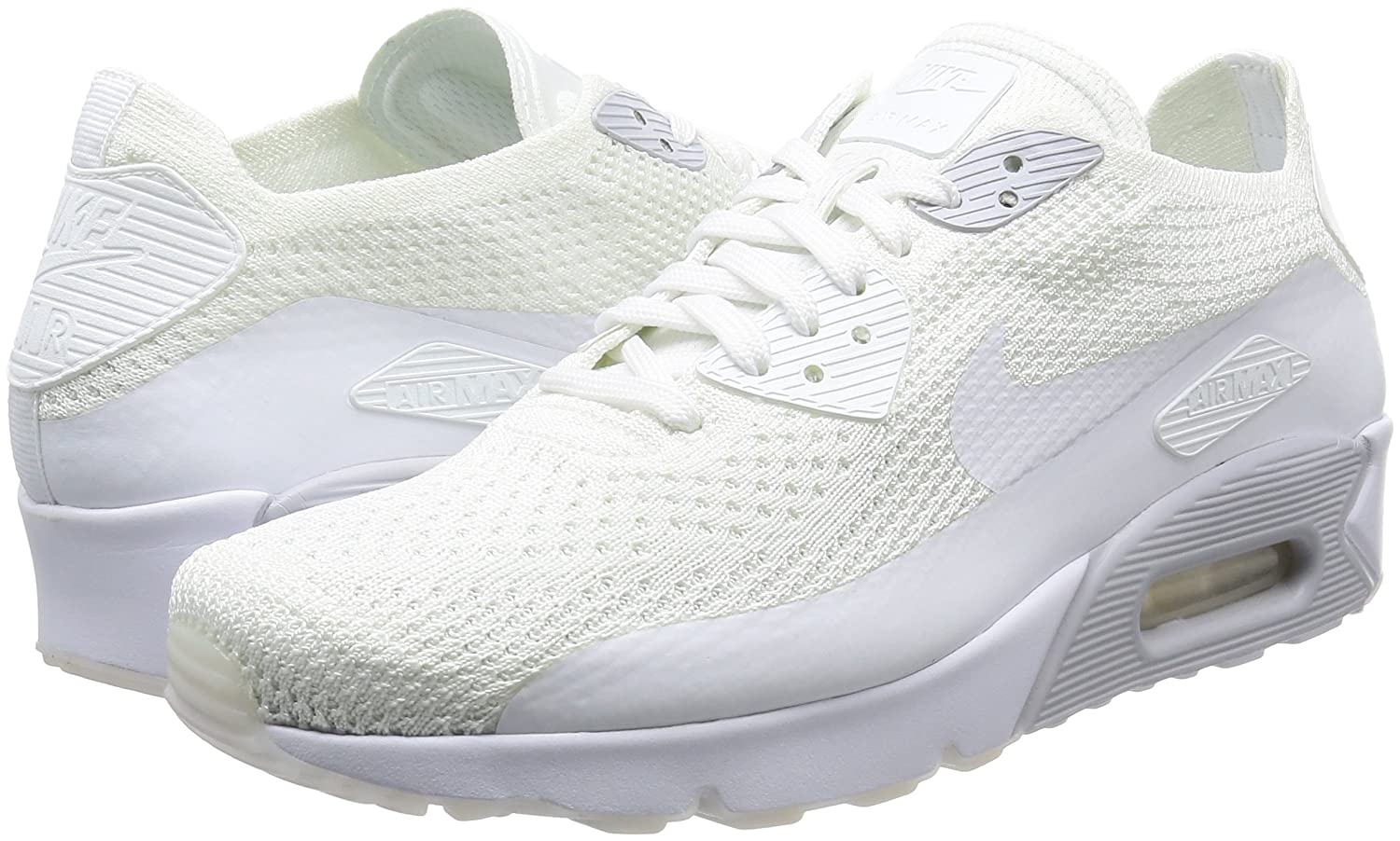 huge selection of a38ad 2b8d2 Amazon.com   Nike AIR MAX 90 Ultra 2.0 Flyknit White Pure Platinum Mens  Running 875943 101   Fashion Sneakers