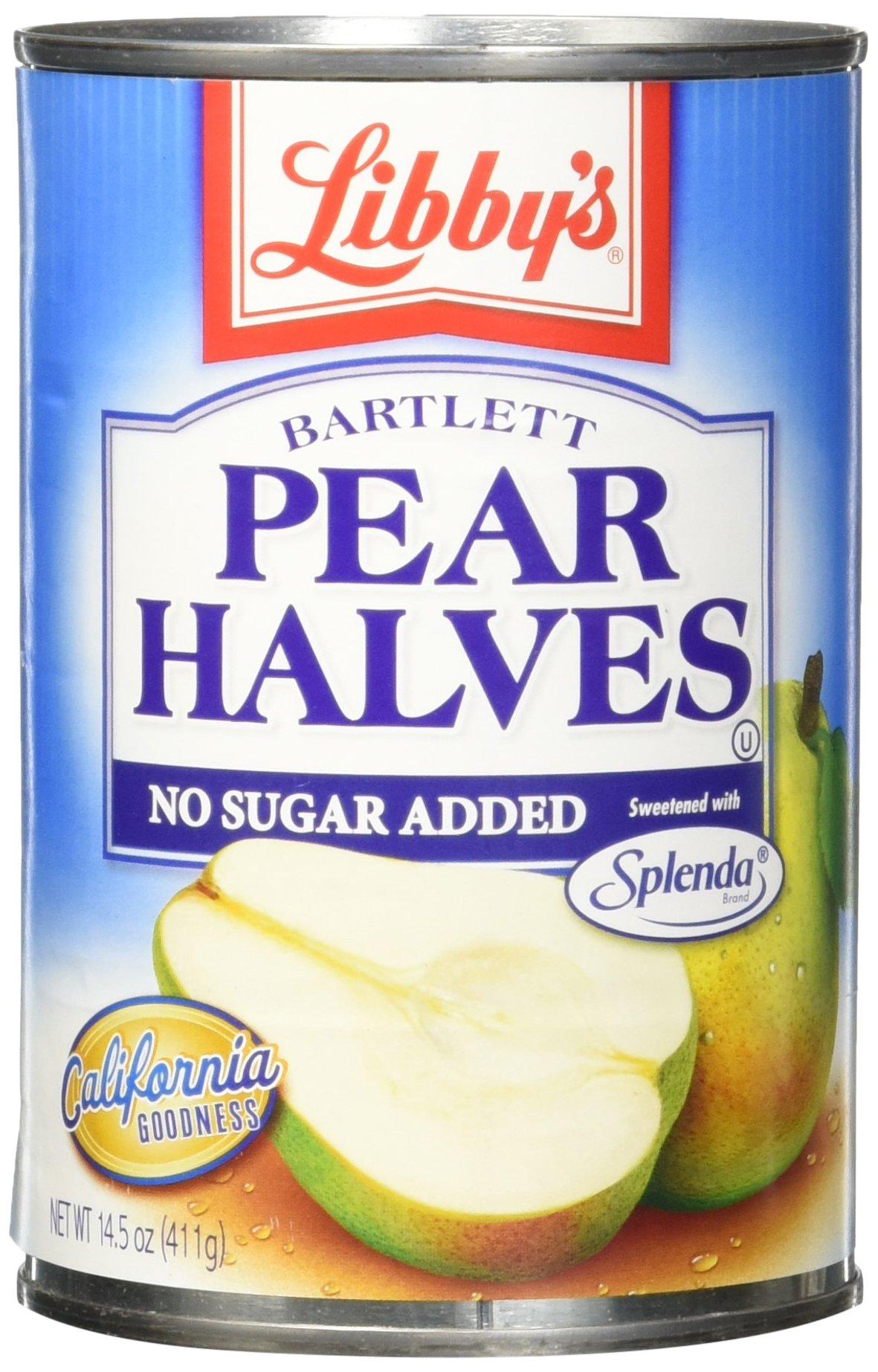 Libby's Splenda Pear Halves, 14.5 Pound (Pack of 12)