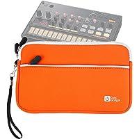 DURAGADGET Housse en néoprène Orange pour KORG Volca Beats/Bass/Keys/Sample/Sample OK GO/FM/Kick/Modular/Drum/Mix Boîte à rythmes - résistant à l'eau