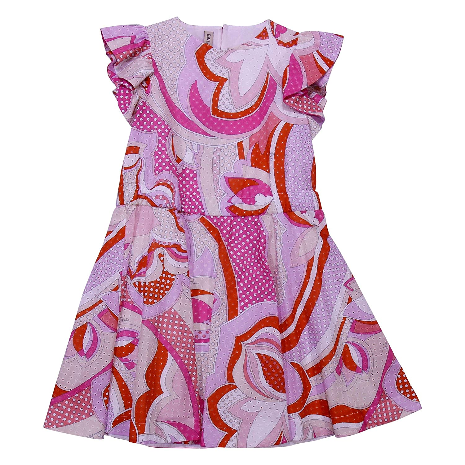 Taille Fabricant 6yrs Emilio Pucci Fille 9K1091KB170513AR Rose Coton Robe