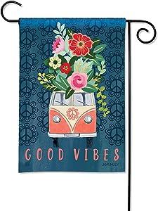 BreezeArt Studio M Good Vibes Decorative Garden Flag – Premium Quality, 12.5 x 18 Inches