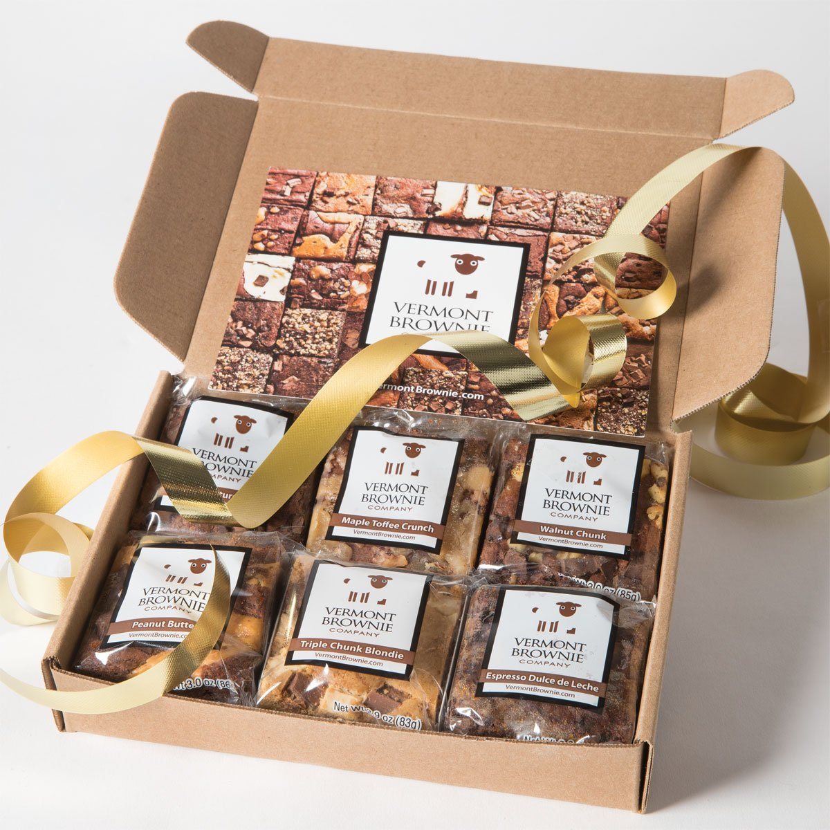 Amazon.com : Merry Christmas Gourmet Brownie Gift Box Sampler - 2.675