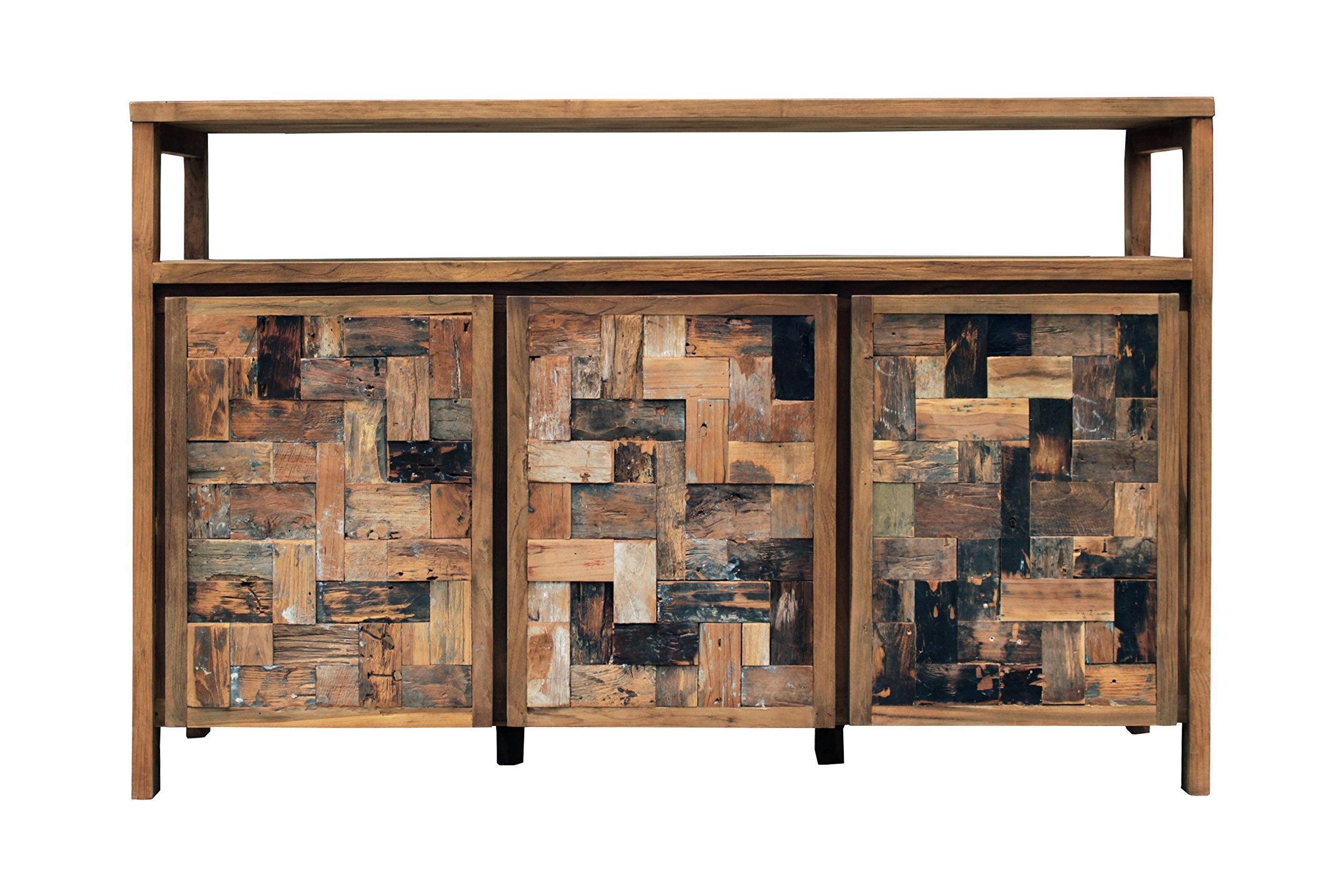 Recycled Teak Mozaik Buffet 3 Wooden Doors Made By Chic Teak