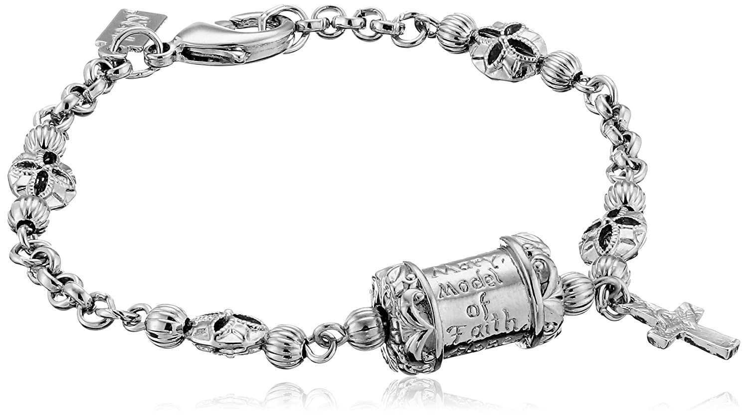 Symbols of faith inspirations silver tone mary pray for us cross symbols of faith inspirations silver tone mary pray for us cross link charm biocorpaavc Images