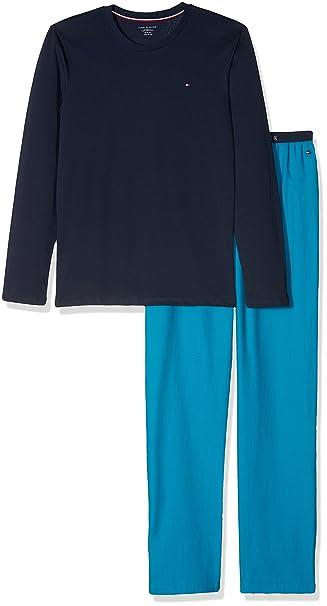 Tommy Hilfiger Woven Set LS, Pijama para Niños, Azul (Navy Blazer/Vivid