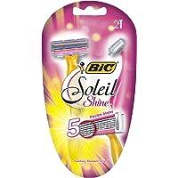 BIC Soleil Shine, Disposable Razor, Women, 2-Count