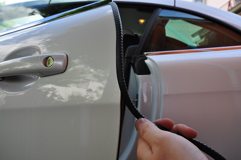 sch/ützen Sie effektiv Ihren kostenbaren Auto Lack 4 Meter T/ürkantenschutz Schwarz T/ürrammschutz Gummi passend f/ür Ihr Fahrzeug