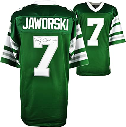 5a06936134d Image Unavailable. Image not available for. Color: Ron Jaworski  Philadelphia Eagles Autographed Green Vintage Jersey ...