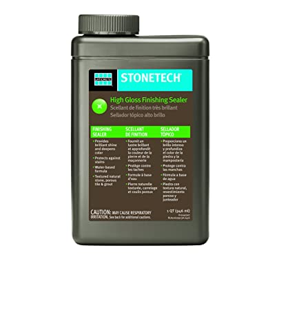 stonetech high gloss finishing sealer for natural stone tile u0026 grout 1