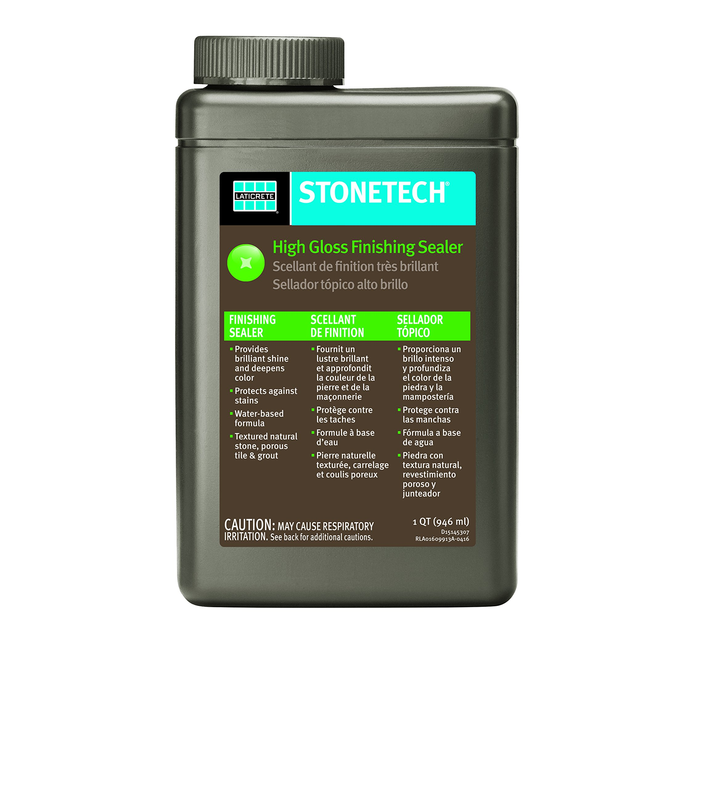 StoneTech High Gloss Finishing Sealer for Natural Stone, Tile, Grout, 1-Quart (.946L)
