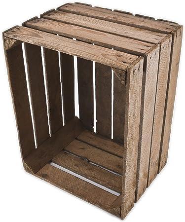 Caja de madera vintage 40 x 50 x 30 cm Madera Antiguo decorativo ...