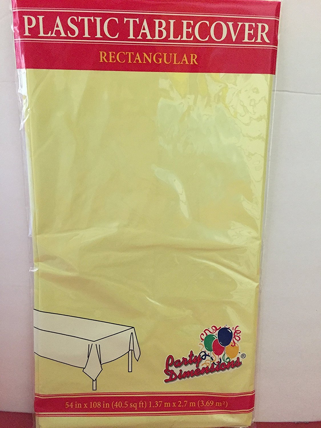 TABLECLOTHS GOLD YELLOW 3-PACK DISPOSABLE PLASTIC TABLE COVERS SYNCHKG064391