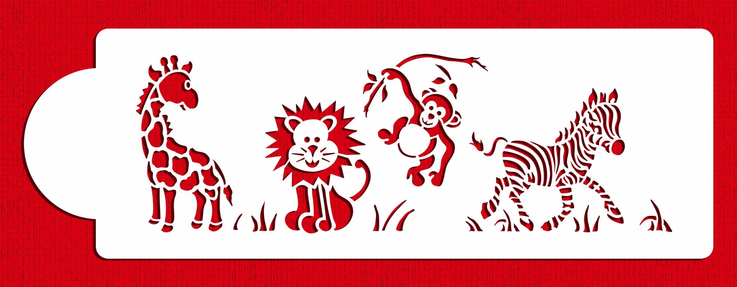 Jungle Animals Cake Side C781 by Designer Stencils