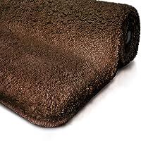 Tapis de bain marron | certifié Oeko-Tex 100 et lavable | poil très doux | plusieurs tailles au choix