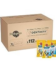Pedigree DentaStix 1 x Täglich Hundeleckerli für kleine Hunde, Kausnack mit Huhn- und Rindgeschmack gegen Zahnsteinbildung für gesunde Zähne, 1er pack (1 x 112 Stück)