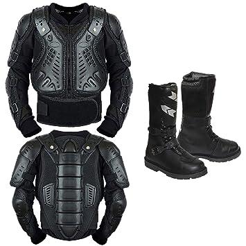 REXTEK Armors de motocicleta para niños, para motocicleta, motocicleta, motocross, motocicleta, piel, botas para niños, aprobado por la CE, chaqueta ...