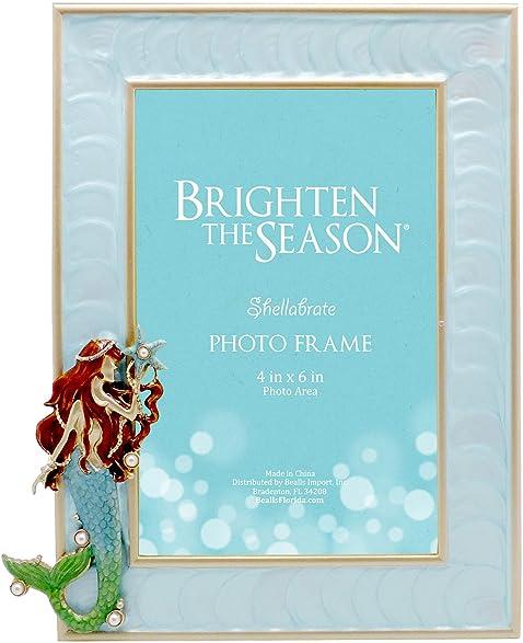 Amazon.com: Brighten the Season 4\'\' x 6\'\' Mermaid Photo Frame One ...