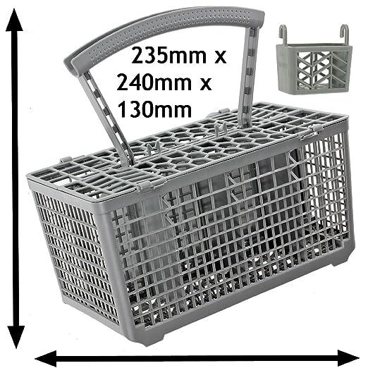 SPARES2GO - Cesta para cubiertos para lavavajillas Jaula & Tapa y ...