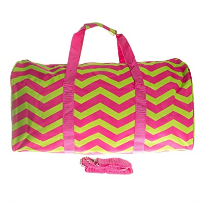 "22"" Carry On Duffel Bag (Green & Pink)"