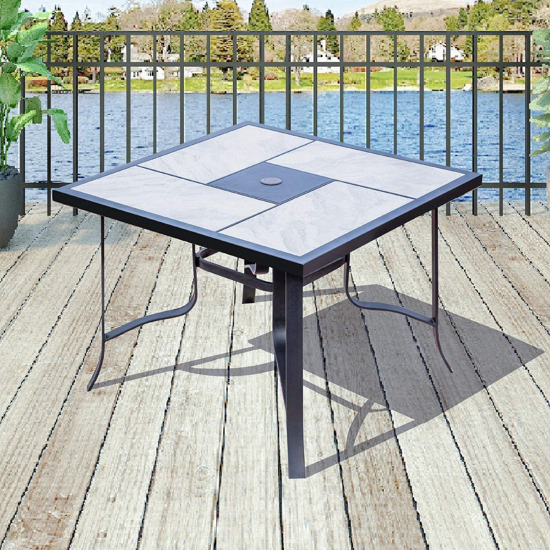 Amazon Com Patiofestival Outdoor Patio Table Bistro Square