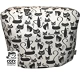Cozycoverup® Dust Cover for Kenwood Food Mixer in Black and White Cats (MultiOne)