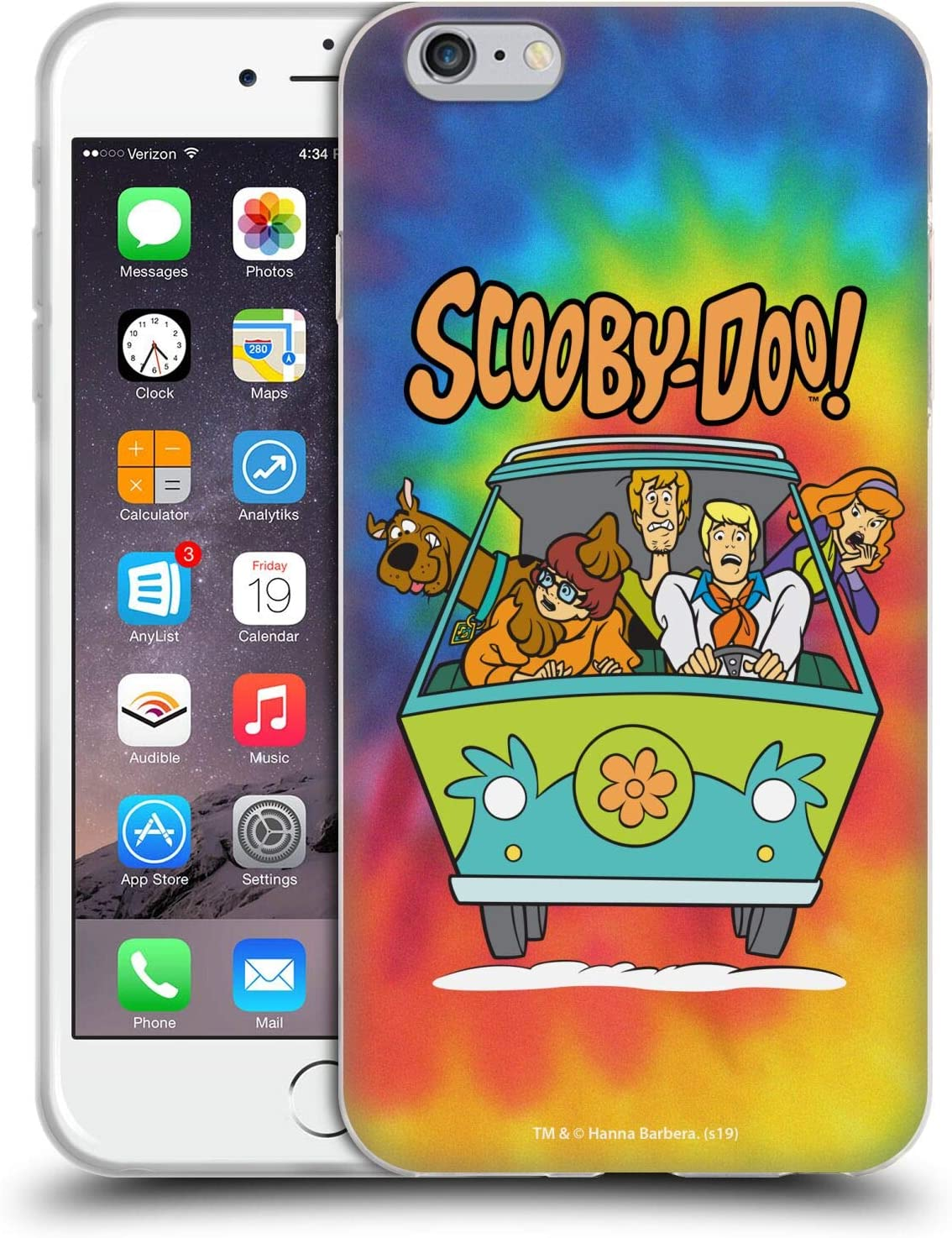 Head Case Designs Officially Licensed Scooby-Doo Tie Dye Mystery Inc. Soft Gel Case Compatible with Apple iPhone 6 Plus/iPhone 6s Plus