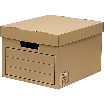 Bankers Box 00154, Caja de almacenamiento, marrón, pack de 10 unidades: Amazon.es: Oficina y papelería