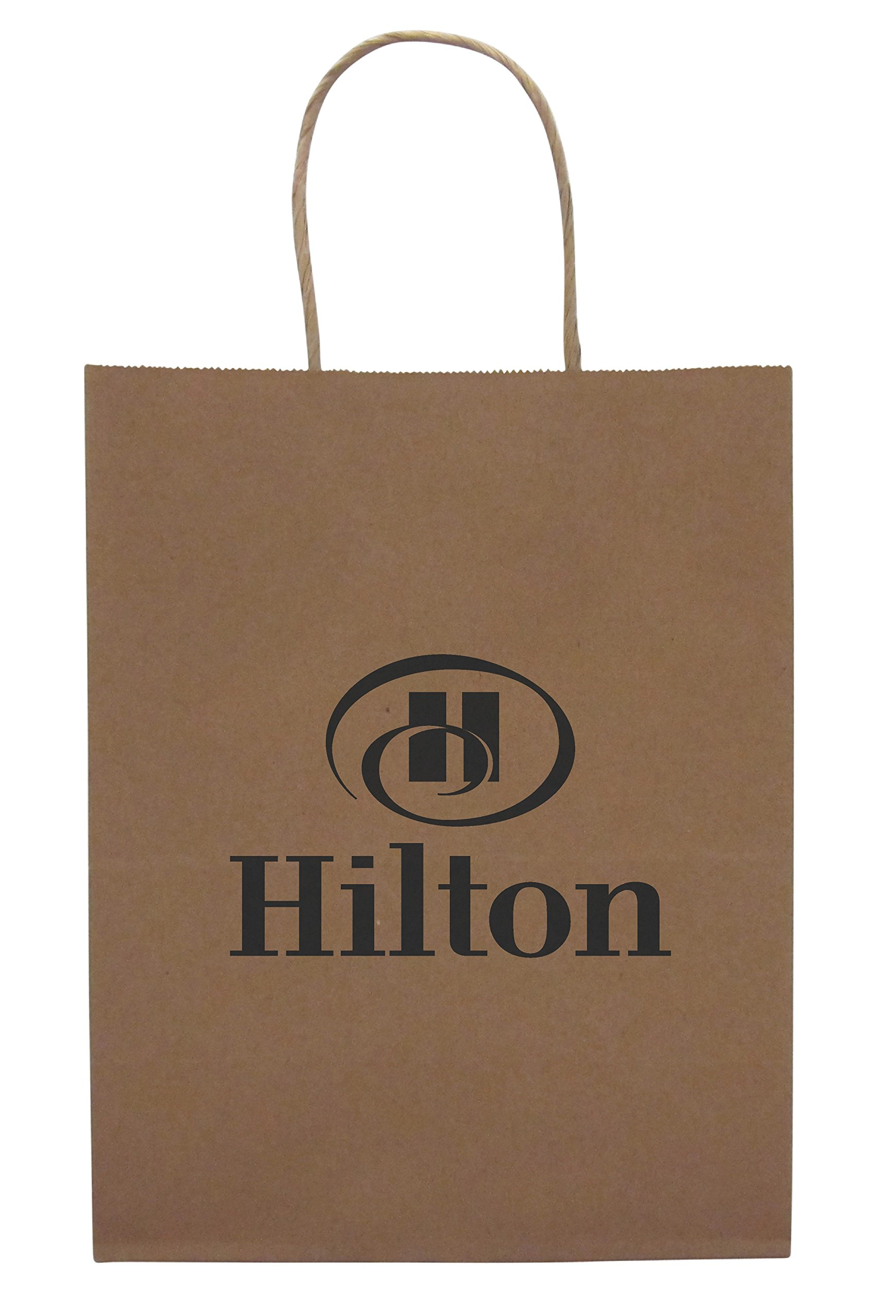 Incredible Packaging - 8'' x 5'' x 10'' Brown CUSTOM Kraft Paper Bags with Handles for Shopping, Retail and Merchandise. Strong and Reusable. (White, 4000) by Incredible Packaging (Image #3)