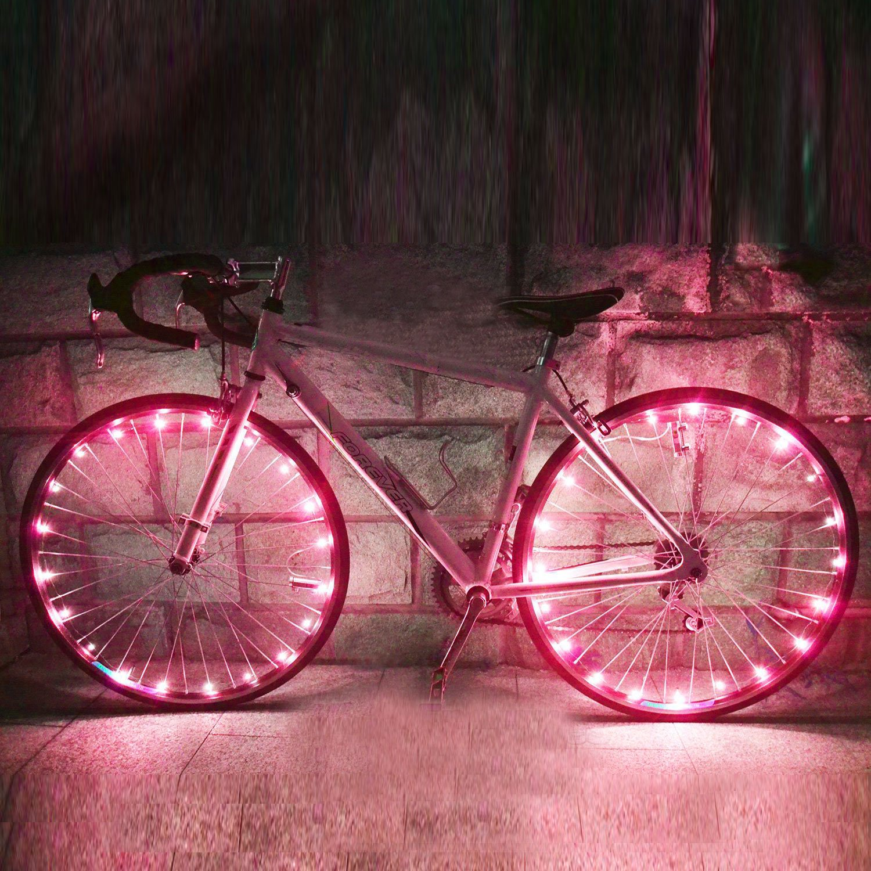 Fahrrad Rad LED Speichenlicht, 2 Pack Wasserdicht Fahrrad Felge ...