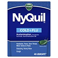 Vicks NyQuil Cough, Cold & Flu Nighttime Relief, 48 LiquiCaps - #1 Pharmacist Recommended...