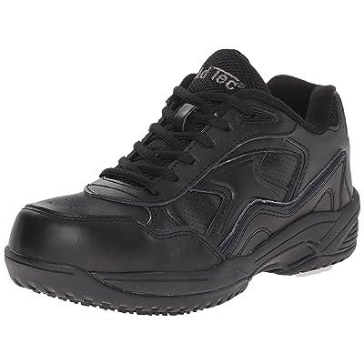 ADTEC Men's Black Lace Work Shoe - Composite Safety Toe, Slip Resistant, Breathable + Comfortable: Shoes