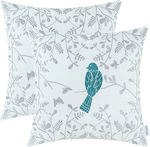 Duckegg Bird and Butterfly Cushion Cover 14 16 18 20