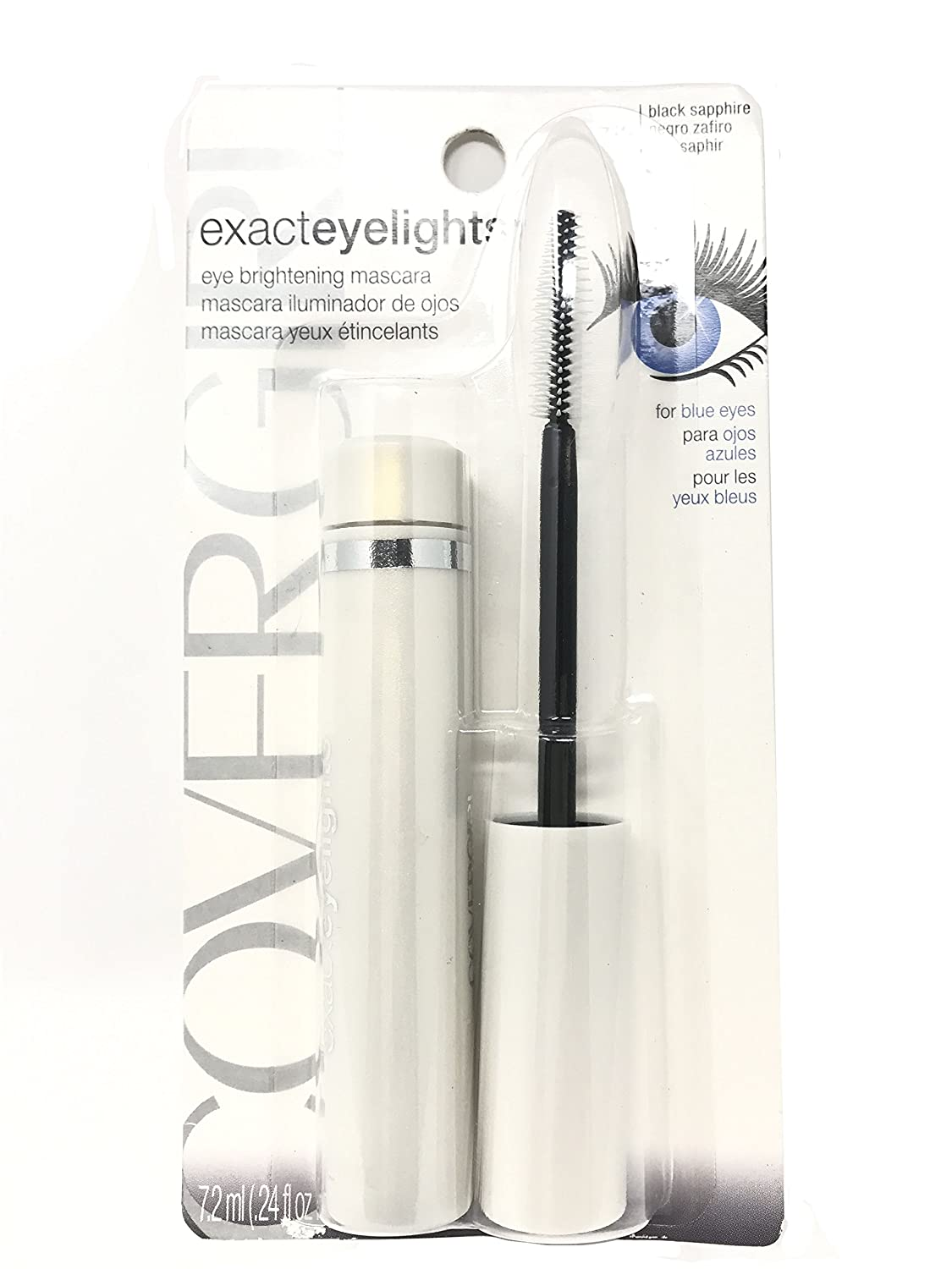 CoverGirl Exact EyeLights Mascara, Black Sapphire 710 , .24 oz Pack of 4