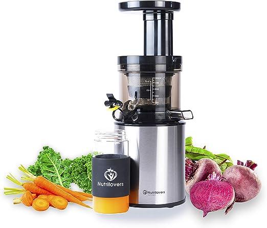 Exprimidor Nutrilovers Slow Juicer eléctrico para frutas y ...