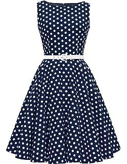 d7cdac69d8cfb1 BlackButterfly 'Audrey' Vintage Polka-Dots Kleid im 50er-Jahre-Stil ...