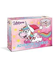 CRAZE- l'avent Premium Calendrier de L'avent Unicorn Licorne Cheval Noël Surprise pour Enfants 14028, coloré