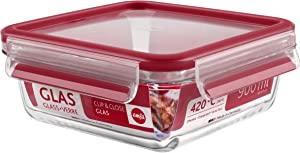 EMSA Clip&Close 513919 Glass Food Storage Box Rectangular Transparent 950 ml