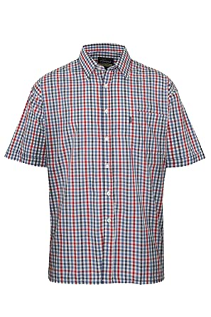 4e023b2d Champion Mens Doncaster Country Casual Short Sleeve Shirt: Amazon.co.uk:  Clothing