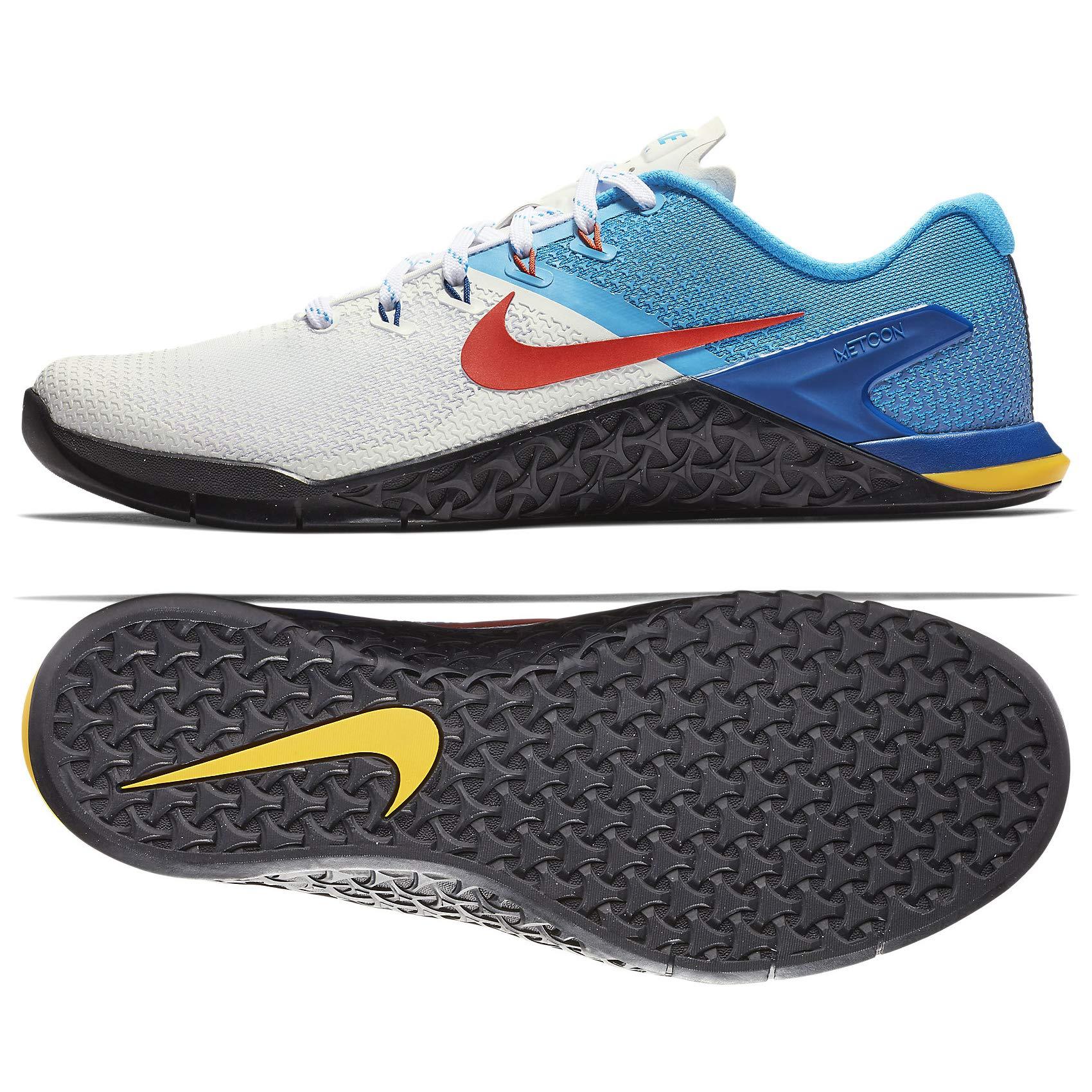 Nike Metcon 4 AH7453-184 White/Team Orange/Blue Hero/Gym Blue Men's Training Shoes (9.5)