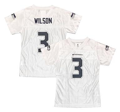 online store dba6a 6069c Amazon.com: Russell Wilson Seattle Seahawks #3 White Dazzle ...