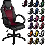 """RACEMASTER® """"GS Series"""" - Silla de escritorio/Gaming silla de despacho - Mecanismo de inclinación y elevación Homolación SGS - Disponible en 20 colores - silla de oficina borgoña"""