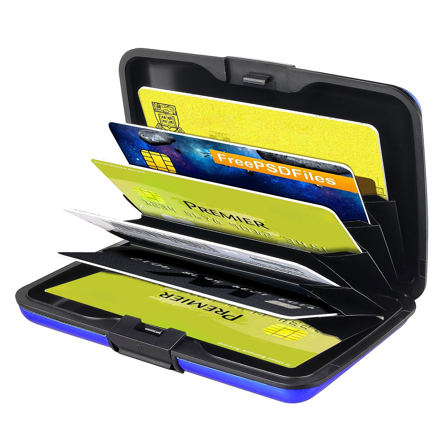 Credit Cards and Driver License for Men// Women Zodaca Protective Aluminum Coated Pocket Card Case Wallet Credit Card Holder with Multi Pockets for Business Cards Blue