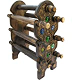 ITOS365 Handmade Wooden Bangle Holder Jewellery Stand for Women Carving 12 Inches