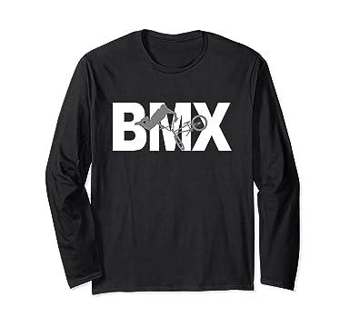 3ee86a48b Amazon.com: BMX Free style bike long sleeve T-shirt: Clothing
