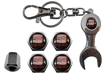 Valvulas de acero inoxidable para coche + llavero apreta ...