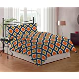 Bombay Dyeing Mistyrose 120 TC Polycotton Double Bedsheet with 2 Pillow Covers - Tobacco